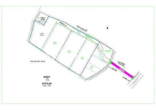 Site plan Land for sale in Bali